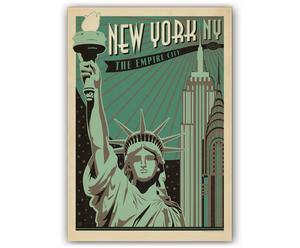 Lámina NY Empire City, de Joel Anderson