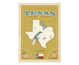 Lámina State Pride Print Texas, de Joel Anderson