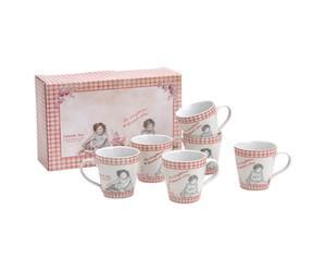 Set de 6 tazas de café + caja