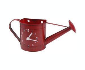 Reloj regadera metálico – rojo