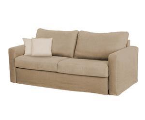 Sofá cama de lino Trieste - crema