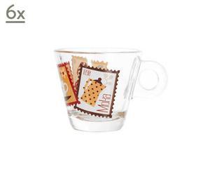 Set de 6 tazas de café Moka