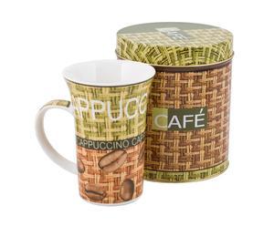 Taza de porcelana y caja Café