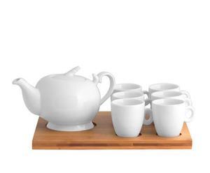 Servicio de café de porcelana y bambú London