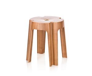 Taburete Bloom – madera de nogal