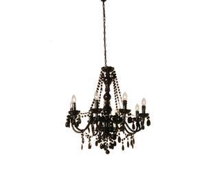 Araña de acrílico negro Jewel – 8 luces
