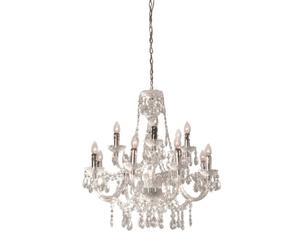Araña de acrílico Transparente Jewel– 12 luces