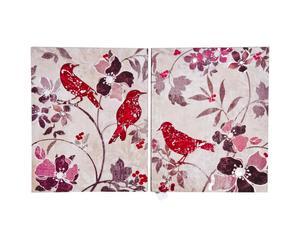 Set de 2 lienzos Flower Bird