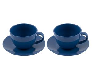 Set da colazione Jumbo blu - (2 tazzine+piattini)