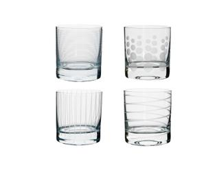 Juego de 4 vasos de agua Cheers