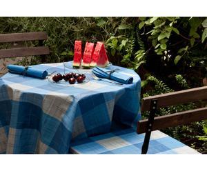 Set de mantel, 4 servilletas y 4 cojines para sillas Cuadros