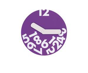 Reloj metálico - Púrpura