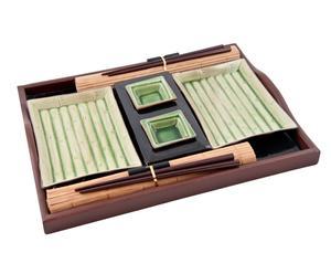 Set da sushi per 2 persone Japan Bamboo - verde