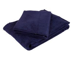 Set de 1 toalla de aseo y 1 toalla de lavabo – Azul