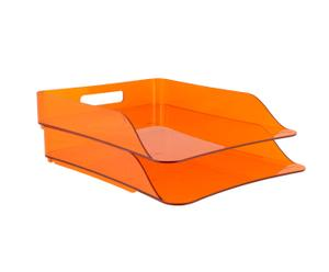 Set de 2 bandejas porta documentos – Naranja
