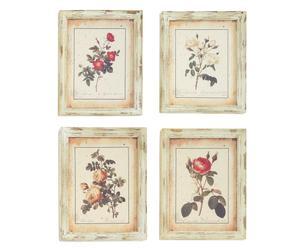 Colección de 4 cuadros de madera – rosa