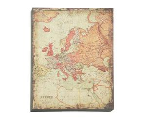 Reproducción sobre metal del mapa de Europa