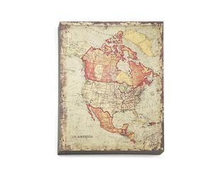 Placa metálica América