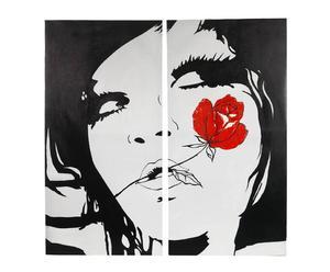 Juego de 2 lienzos Red Rose