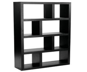 Estantería de madera lacada en negro