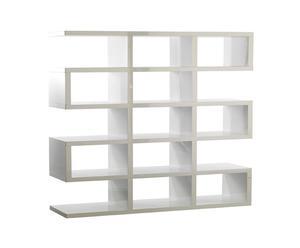 Librería de madera lacada Laberinto
