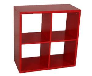 Librería con 4 compartimentos – Rojo