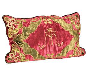 Cojín de terciopelo Red Royal