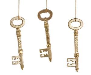 Set de 12 llaves doradas
