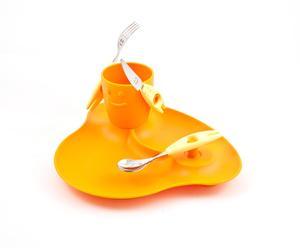 Set de mesa para niños Pappa Party - naranja