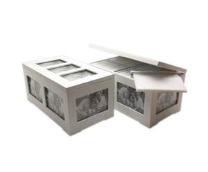 Caja para almacenar 160 fotografías - Blanco