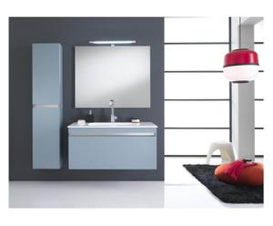 Composición de los elementos de pared para baño, blanco y menta – 8 piezas