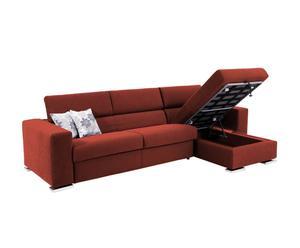 Sofá de 2 plazas y chaise longue Contenitore - Ladrillo