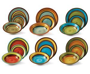 Juego de platos Atlantique Multicolor – 18 piezas