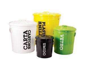 Juego de 4 contenedores para reciclar