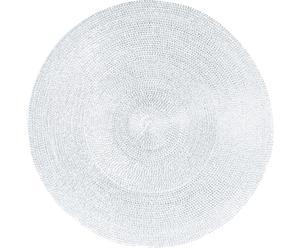 Mantel individual redondo Classic - Blanco