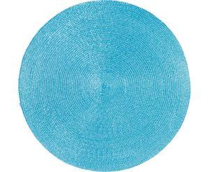 Mantel individual redondo Classic - Turquesa