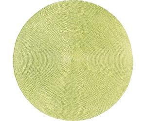 Mantel individual redondo Classic – Verde kiwi