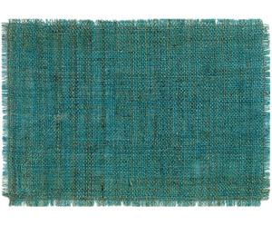 Mantel individual rectangular Rhea – Azul verdoso