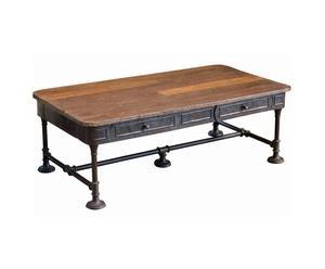 Mesa de madera de teca INDIA - natural