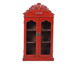 Vitrina oriental de madera – rojo