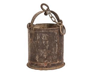 Cubo de pozo decorativo de hierro - natural