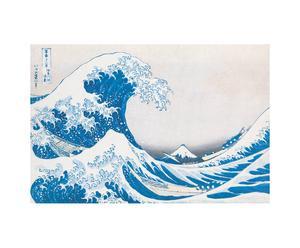 Impresión sobre madera La gran ola de Kanagawa, de Katsushika Hokusai – 90x60