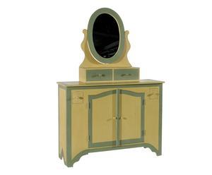 Mueble tocador de madera – beige y verde claro