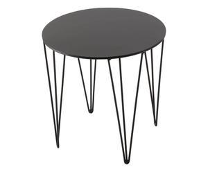 Mesa de hierro, negro – 35x35