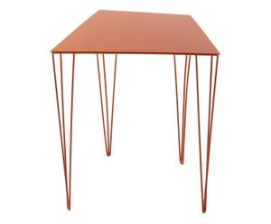 Mesa de hierro trapezoidal, naranja - 44x36x50