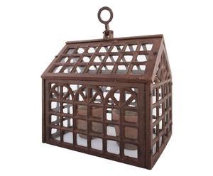 Invernadero victoriano en vidrio y hierro - marrón
