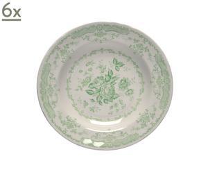Set de 6 platos hondos - verde