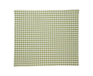Mantel de algodón Leaf Green Vichy, cuadrado – verde y blanco