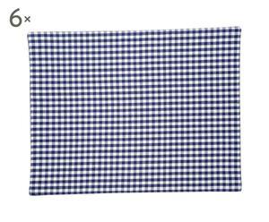 Set de 6 servilletas de algodón CrownBlueVichy – azul y blanco