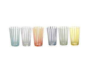 Set de 6 vasos de cristal MixyMixy - multicolor